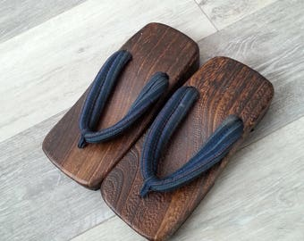 Authentic Japanese Wooden Sandals Womens Size 8, Handmade, Geta, Artistic Shoes, Geisha, Wooden Shoes, Brand New, Flip Flops, Cosplay, Clogs