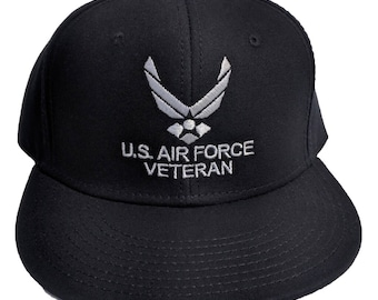 U.S Air Force Veterans Embroidered Black Hat