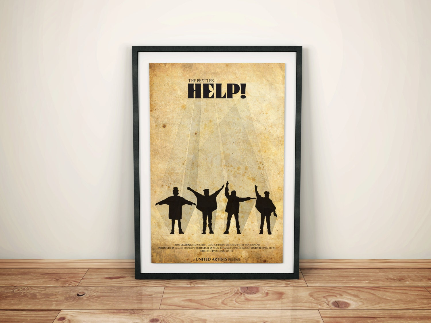 Help Cult Vintage Movie Poster // Not Just Anybody // The