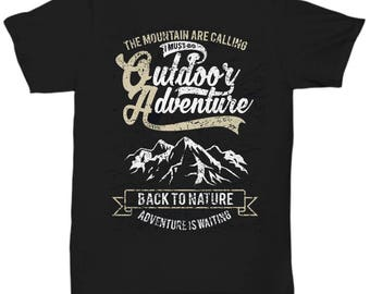 Mountain Are Calling Outdoor Adventure T-shirt