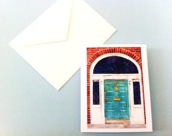 Watercolor Card - Dublin Georgian Door #3