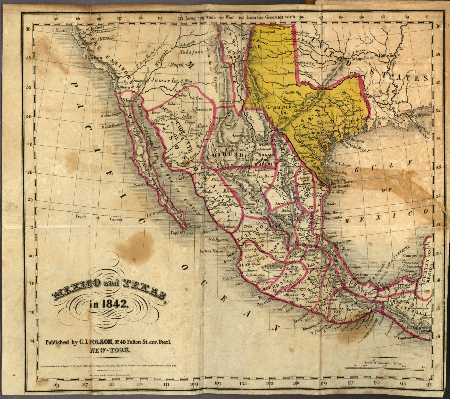 Mexico 1842 ancient map world map poster wall world map zoom gumiabroncs Images