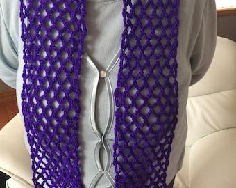 Crocheted Iris Scarf
