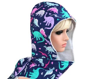 Scoodie - Hooded Scarf- Dinosaurs