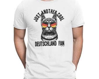 Mens T-Shirt Another Cool DEUTSCHLAND Germany Fan Cat FOOTBALL World Cup 2018 Funny