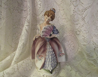 Lefton Elegant Colonial Lady Figurine