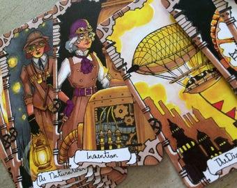 Steampunk Tarot Cards - Major Arcana