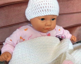 Crocheted Baby Blanket, Hat and Booties
