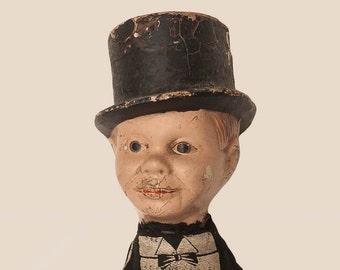 Edgar Bergen's CHARLIE  MCCARTHY hand puppet from 1938 VENTRILOQUIST Dummy