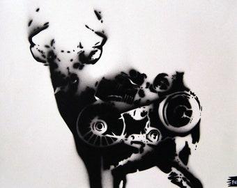 Tarandrus Mechanic Spraypaint stencil