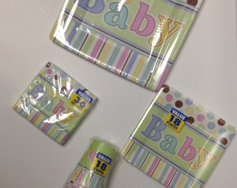 Baby shower plate set