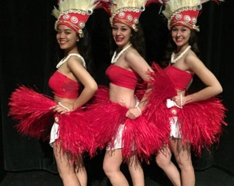 Tahitian & Cook Islands Headpiece, Perfect For Soloist, Dancers Of All Ages! Choose Your Color!