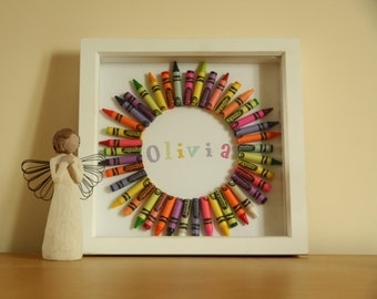 Personalised Name wall art - crayons