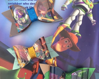 Toy Story Book Page Bow-Waterproof