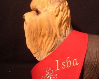 Red to customize it for XS, S, M DOG bandana