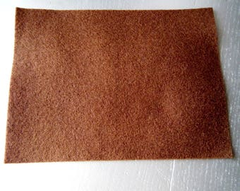 leaf Brown felt fabric