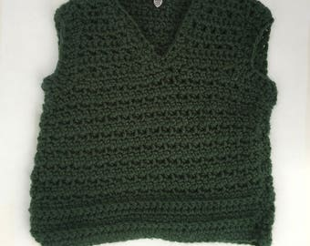 Hunter Green Baby Boy Sweater Vest, 6-9 months, Christmas Sweater Vest