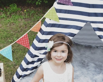 Bunting banner - Colorful - Fabric flags garland - Birthday party, Spotty Bunting