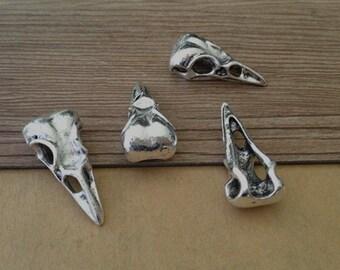 10pcs Antique silver bird head Pendant charm 14mmx31mm