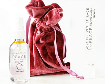 PEACE Crystal Water | Face + Body Mist | For dry, dull skin | 100% natural + vegan // brighten