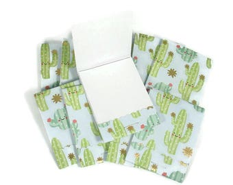 Set of 20 Matchbook Notepads Mini Note Pads in  Cactus Cuties