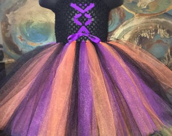 Witch Costume Tutu Dress for baby girl, Baby girl tutu dress, black costume for halloween, baby girl costume