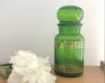 70 years green apothecary jar