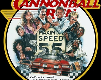80's Burt Reynolds Classic The Cannonball Run Poster Art custom tee Any Size Any Color
