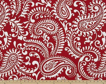 Premier Prints Walker in Lipstick Red Home Decor fabric, 7 oz Cotton