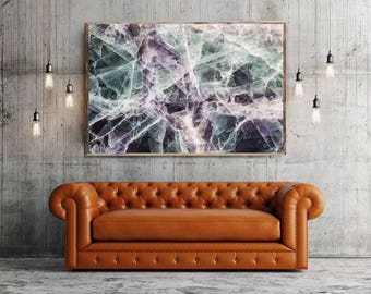 Mineral Photography - (Print # 016)    -  Fine Art Print - Two Paper Choices- Mineral Geode Agate Crystal Decor