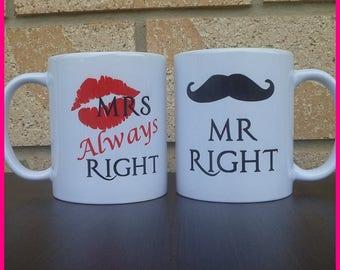 Mr and Mrs Coffee Mugs