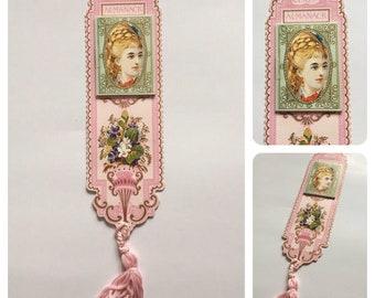 Vintage 1980's Pink 'Almanack' bookmark* Bookworm* Bookmark* Reading