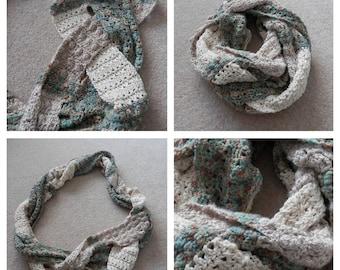Plaited Scarf PDF crochet pattern