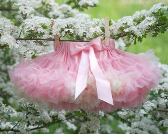 Pale Pink  Cream & Vanilla Baby Tutu Pettiskirt  0-1 years