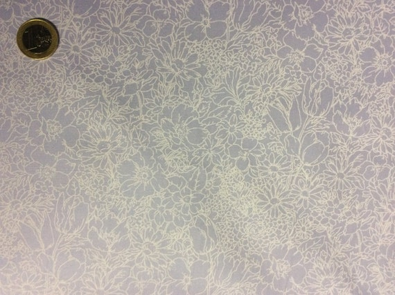 High quality cotton poplin dyed in Japan, lavender floral print