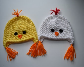 Chicken Hat  - Chick Hat-  Animal Hat - Photo Prop - Crochet Chicken Hat