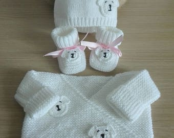 Bra set booties bonnet 0ã 3 months