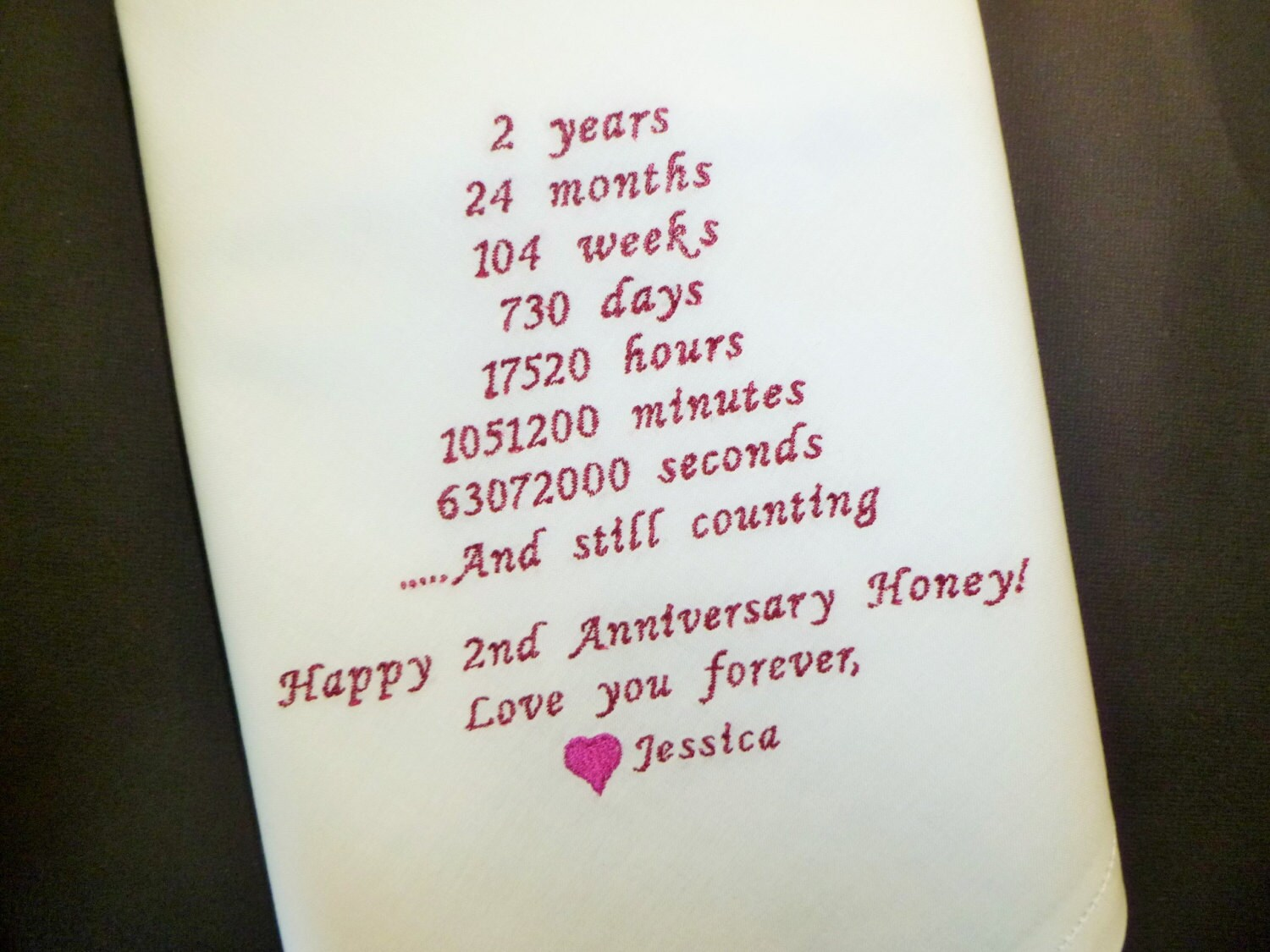 Cotton Wedding Anniversary Gifts For Men: Anniversary Husband Handkerchief 2nd Anniversary Gift Cotton