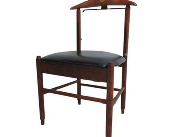 Vintage Mid Century Italian Danish Modern Valet Vanity Chair