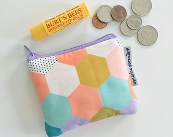 coin pouch -- MP spring hexies