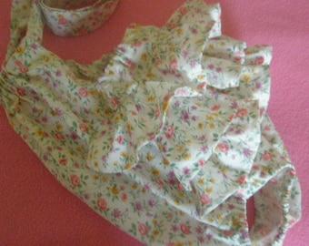 Childs handmade shabby chic ruffle bum sunsuit 12-18 months ready to ship
