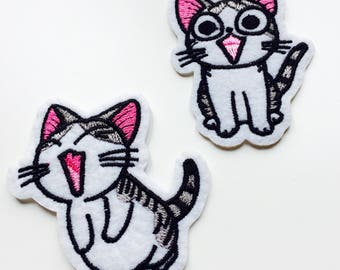 Cat | Kawaii | Patch | Cute | Hipster | Trendy | Emo | DIY | Fashion | Retro