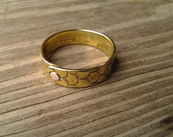 riveted 1/4 inch band in copper or brass, made to order in your size