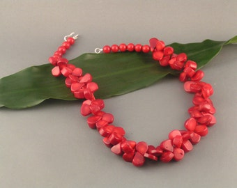 """Red Coral Teardrop Set - """"Red Cheria"""""""