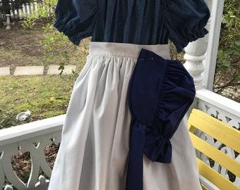 Ships Today -Pioneer, Prairie, Colonial  Felicity, American Girl Costume -   Girls Sz  4 - 5
