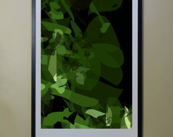 "Abstract Composition: NightTree_01_02b - Contemporary Art - Abstract Design - 26"" x 46"" and 13"" x 19"" - Limited Edition Print"
