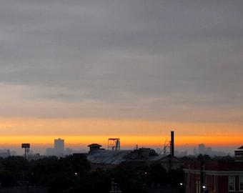 Chicago neighborhood at sunrise