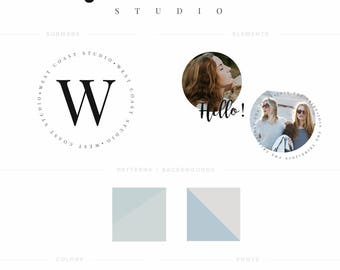 Logo and Brand Suite - West Coast - Logo, Tag, Pattern, Social Templates