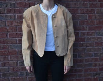 Vintage Avanti Suede Leather Jacket Large