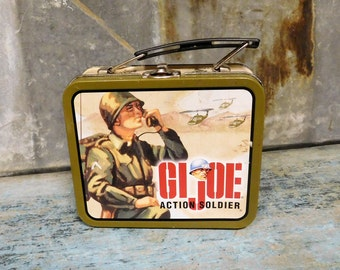 G.I. Joe Action Soldier Small Lunch Box Vintage Lunch Box